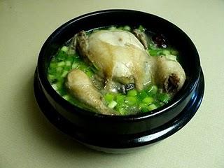 Samgyetang (Ginseng Chicken Soup) 삼계탕